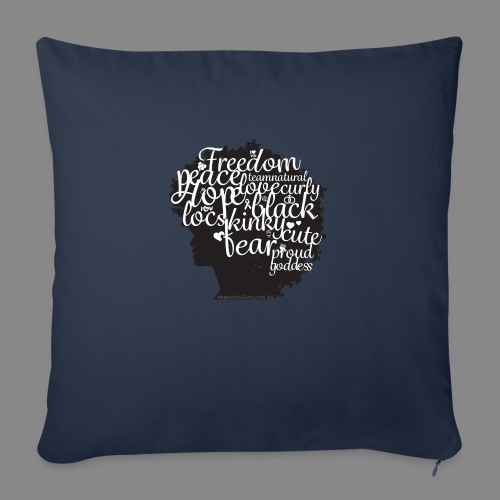 """Afro Text II - Throw Pillow Cover 17.5"""" x 17.5"""""""