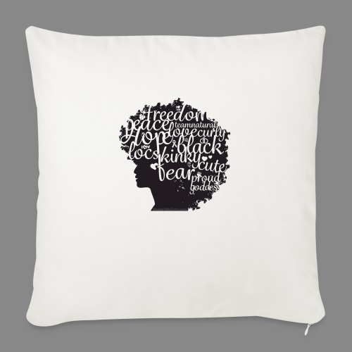 """Afro Text II - Throw Pillow Cover 18"""" x 18"""""""