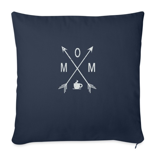 "Mom Loves Coffee - Throw Pillow Cover 18"" x 18"""