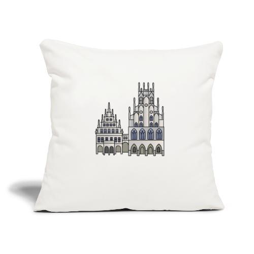 "Town Hall Münster, Cityhall, Mayor - Throw Pillow Cover 17.5"" x 17.5"""