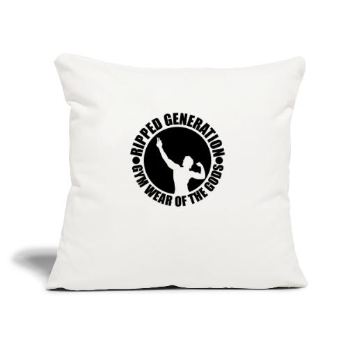 """Ripped Generation Gym Wear of the Gods Badge Logo - Throw Pillow Cover 17.5"""" x 17.5"""""""