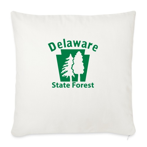 "Delaware State Forest Keystone (w/trees) - Throw Pillow Cover 17.5"" x 17.5"""