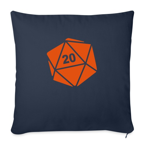 "D20 Winter Toque - Throw Pillow Cover 18"" x 18"""