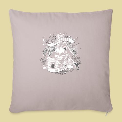 "hoh_tshirt_skullhouse - Throw Pillow Cover 18"" x 18"""