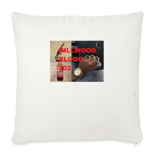"Killwood Blood 902 - Throw Pillow Cover 18"" x 18"""