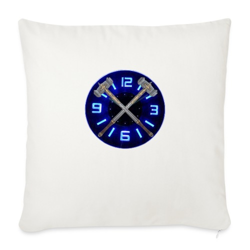 "Hammer Time T-Shirt- Steel Blue - Throw Pillow Cover 18"" x 18"""
