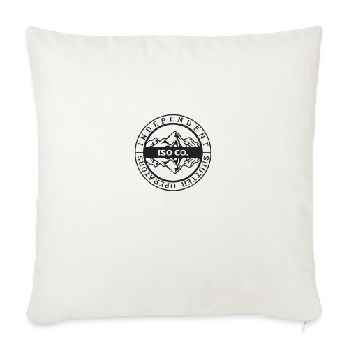 """ISO Co. Black Classic Emblem - Throw Pillow Cover 18"""" x 18"""""""