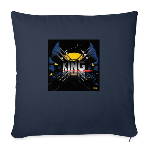 "ones wolverine was a king!! - Throw Pillow Cover 18"" x 18"""