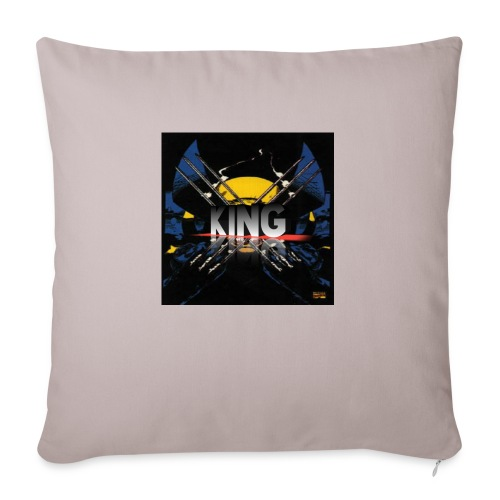 """ones wolverine was a king!! - Throw Pillow Cover 18"""" x 18"""""""