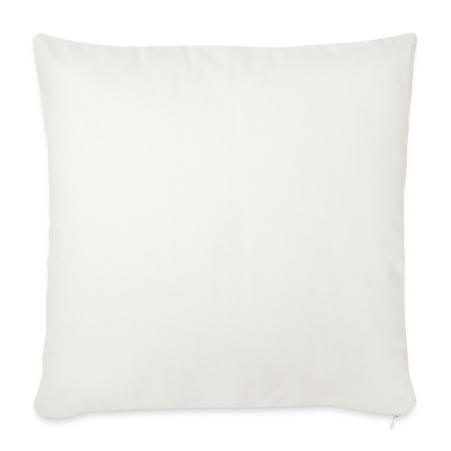 "Loved By God - Alt. Design (White Letters) - Throw Pillow Cover 18"" x 18"""
