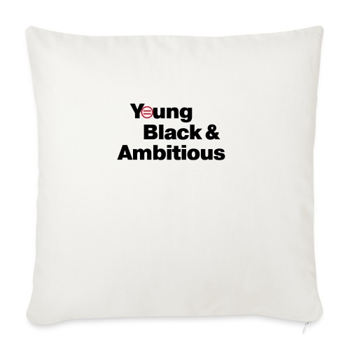 "YBA white and gray shirt - Throw Pillow Cover 18"" x 18"""