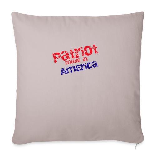 """Patriot mug - Throw Pillow Cover 18"""" x 18"""""""