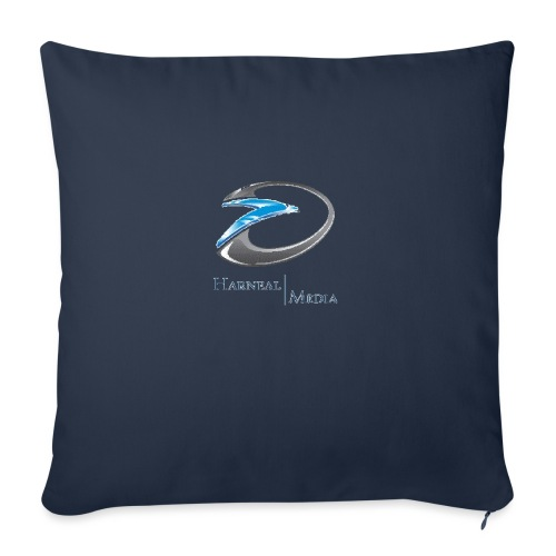 """Harneal Media Logo Products - Throw Pillow Cover 18"""" x 18"""""""