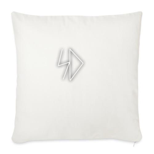 """Sid logo white - Throw Pillow Cover 18"""" x 18"""""""