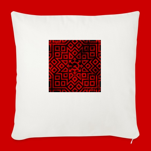 """Detailed Chaos Communism Button - Throw Pillow Cover 17.5"""" x 17.5"""""""
