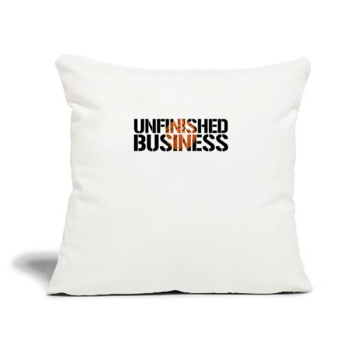 """Unfinished Business hoops basketball - Throw Pillow Cover 17.5"""" x 17.5"""""""