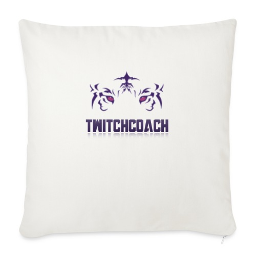 "TwitchCoach Merch - Throw Pillow Cover 17.5"" x 17.5"""