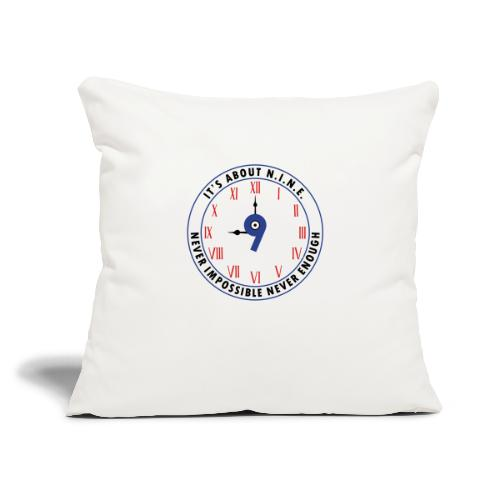 """NINE Logo v2 2018 blue Outlines Red Numbers - Throw Pillow Cover 18"""" x 18"""""""