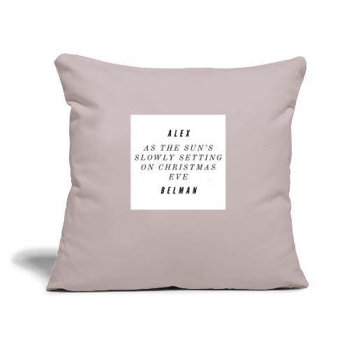 "On Christmas Eve Lyrics - Throw Pillow Cover 17.5"" x 17.5"""