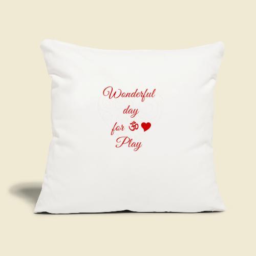 "108-lSa Inspi-Shirt-85.b ... for OM-Love Play - Throw Pillow Cover 17.5"" x 17.5"""
