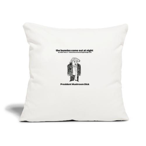 "tbcoan Mushroom Dick - Throw Pillow Cover 18"" x 18"""