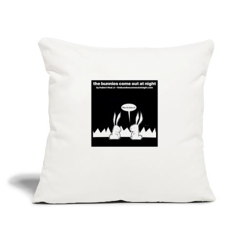 """tbcoan Where the bitches at? - Throw Pillow Cover 18"""" x 18"""""""