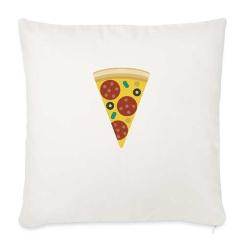 "Pizza - Throw Pillow Cover 17.5"" x 17.5"""