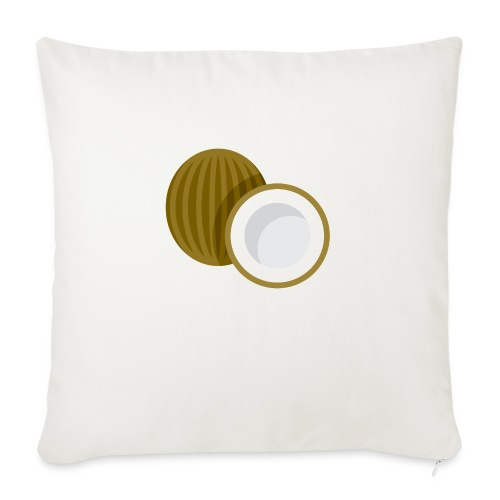 "Coconut - Throw Pillow Cover 17.5"" x 17.5"""