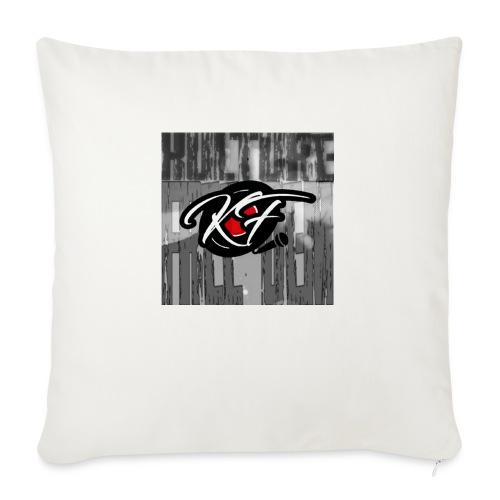 """KulturefreeDem Logo Merch Design - Throw Pillow Cover 17.5"""" x 17.5"""""""
