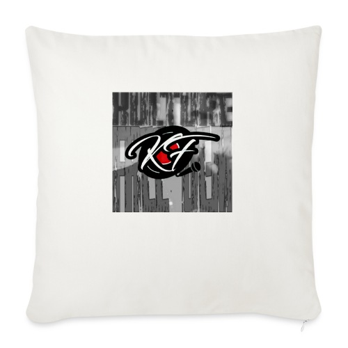 "KulturefreeDem Logo Merch Design - Throw Pillow Cover 18"" x 18"""
