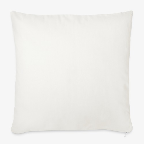 """official white - Throw Pillow Cover 18"""" x 18"""""""