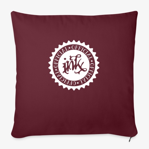 """official white - Throw Pillow Cover 17.5"""" x 17.5"""""""