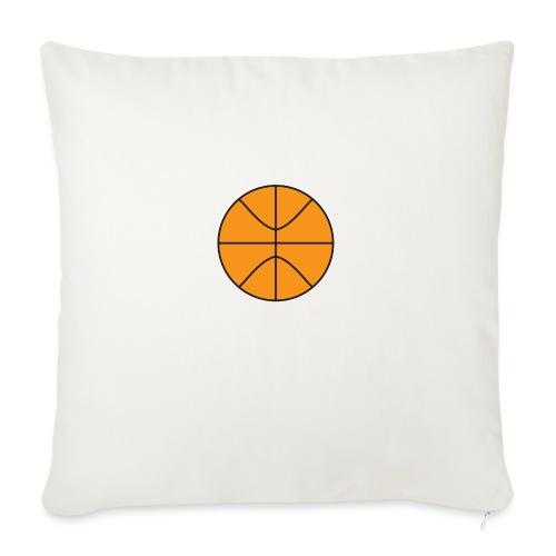 "Plain basketball - Throw Pillow Cover 18"" x 18"""