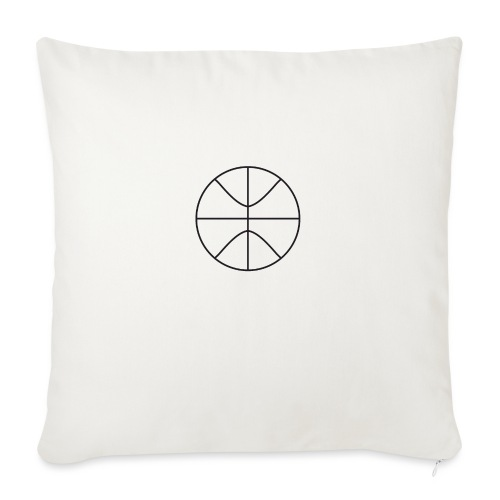 """Basketball black and white - Throw Pillow Cover 18"""" x 18"""""""