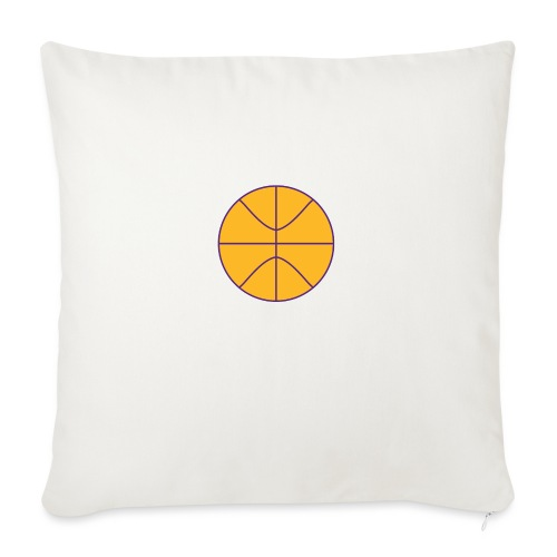 """Basketball purple and gold - Throw Pillow Cover 18"""" x 18"""""""