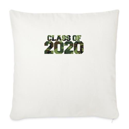 """Class of 2020 Camo grad logo - Throw Pillow Cover 17.5"""" x 17.5"""""""
