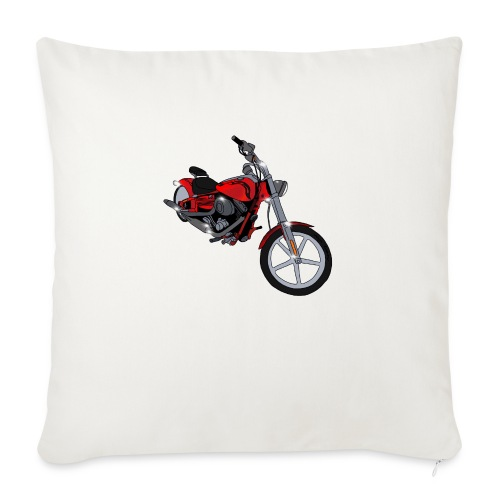 """Motorcycle red - Throw Pillow Cover 17.5"""" x 17.5"""""""