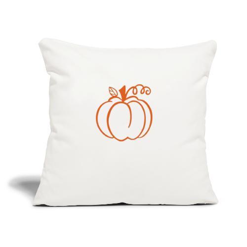 """Pumpkin - Throw Pillow Cover 17.5"""" x 17.5"""""""