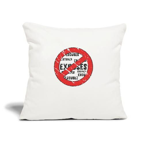 """No Excuses   Vintage Style - Throw Pillow Cover 17.5"""" x 17.5"""""""