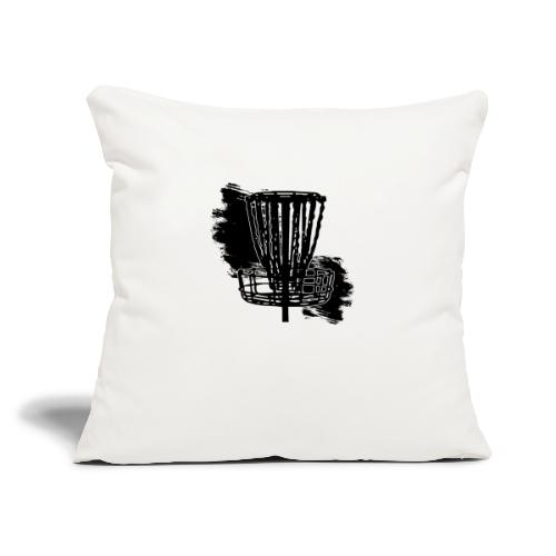 "Disc Golf Basket Paint Black Print - Throw Pillow Cover 18"" x 18"""