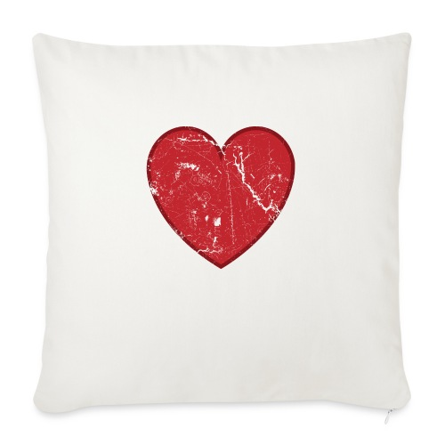 "Cool Valentine Vintage Heart - Throw Pillow Cover 17.5"" x 17.5"""