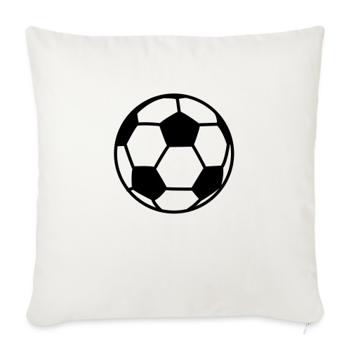 "custom soccer ball team - Throw Pillow Cover 18"" x 18"""