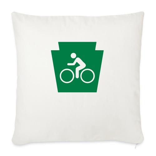 "PA Keystone w/Bike (bicycle) - Throw Pillow Cover 17.5"" x 17.5"""
