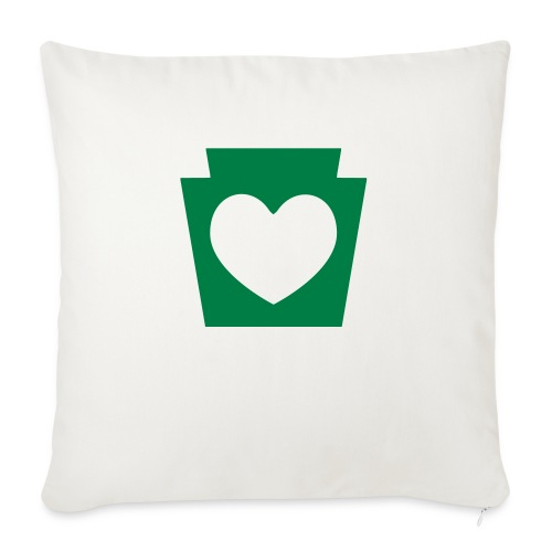 "Love/Heart PA Keystone - Throw Pillow Cover 17.5"" x 17.5"""