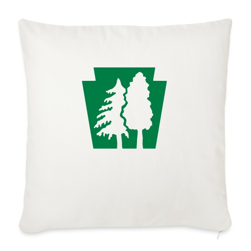 "PA Keystone w/trees - Throw Pillow Cover 17.5"" x 17.5"""
