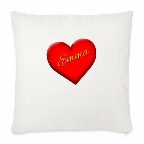 "Emma Valentine - Throw Pillow Cover 17.5"" x 17.5"""