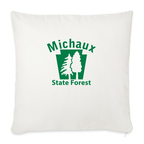 """Michaux State Forest Keystone (w/trees) - Throw Pillow Cover 17.5"""" x 17.5"""""""