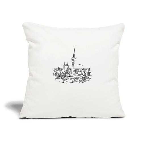 "Panorama of Berlin - Throw Pillow Cover 17.5"" x 17.5"""