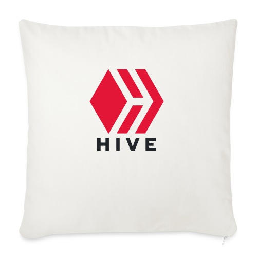 "Hive Text - Throw Pillow Cover 17.5"" x 17.5"""