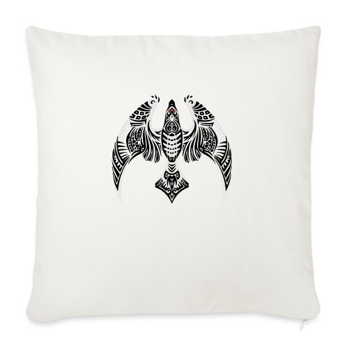 "Hawk Totem - Throw Pillow Cover 18"" x 18"""